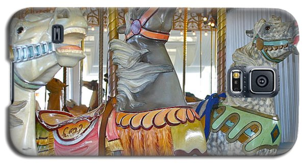 Galaxy S5 Case featuring the photograph Lighthouse Park Carousel by Cindy Lee Longhini