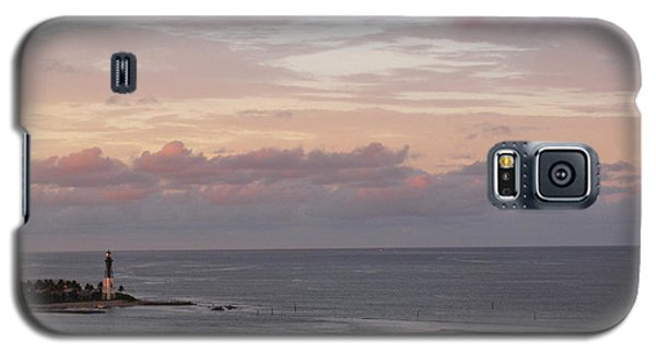 Lighthouse Peach Sunset Galaxy S5 Case