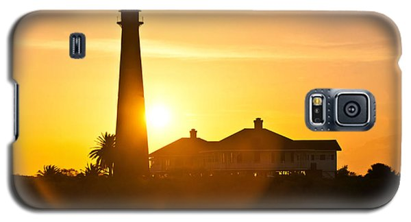 Galaxy S5 Case featuring the photograph Lighthouse Sunset by John Collins