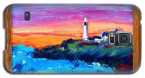 Lighthouse Sunset Galaxy S5 Case by Les Leffingwell