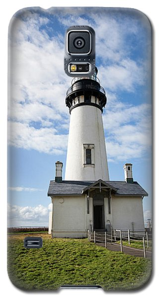 Galaxy S5 Case featuring the photograph Lighthouse View by Mary Jo Allen