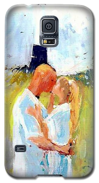 Galaxy S5 Case featuring the painting Lighthouse Wedding by Gertrude Palmer