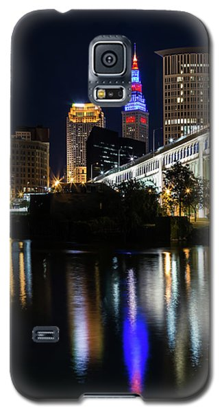 Galaxy S5 Case featuring the photograph Lighting Up Cleveland by Dale Kincaid