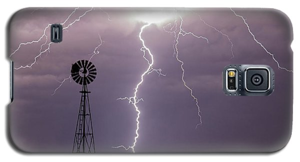 Lightning And Windmill -02 Galaxy S5 Case by Rob Graham