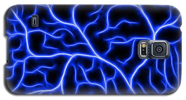 Galaxy S5 Case featuring the digital art Lightning - Blue by Shane Bechler