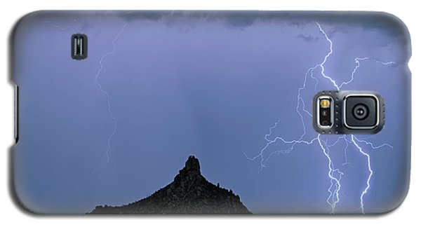 Galaxy S5 Case featuring the photograph Lightning Bolts And Pinnacle Peak North Scottsdale Arizona by James BO Insogna