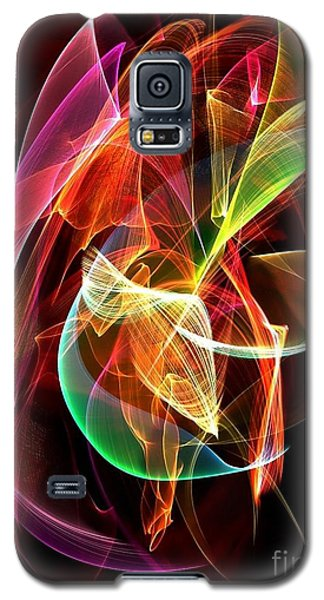 Galaxy S5 Case featuring the digital art Lightning By Nico Bielow by Nico Bielow