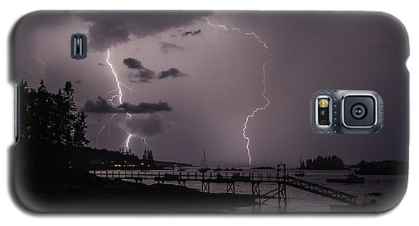Lightning Over Boothbay Harbor Galaxy S5 Case