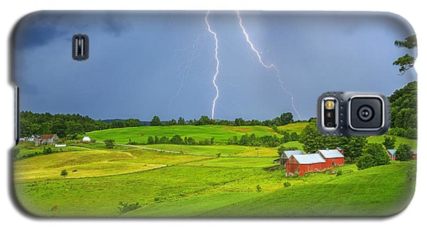 Lightning Storm Over Jenne Farm Galaxy S5 Case