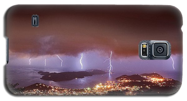 Lightning Over Water Island Galaxy S5 Case