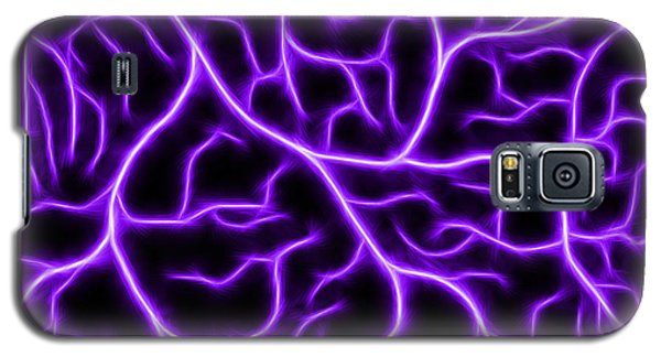 Galaxy S5 Case featuring the digital art Lightning - Purple by Shane Bechler