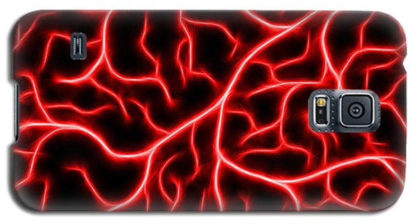 Galaxy S5 Case featuring the digital art Lightning - Red by Shane Bechler