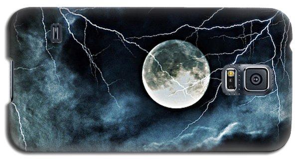 Lightning Sky At Full Moon Galaxy S5 Case