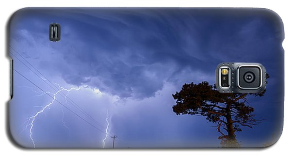 Lightning Storm On A Lonely Country Road Galaxy S5 Case