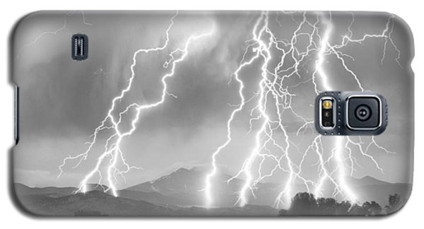 Lightning Striking Longs Peak Foothills 4cbw Galaxy S5 Case by James BO  Insogna