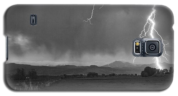 Lightning Striking Longs Peak Foothills 5bw Galaxy S5 Case