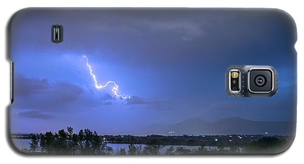 Galaxy S5 Case featuring the photograph Lightning Striking Over Boulder Reservoir by James BO Insogna