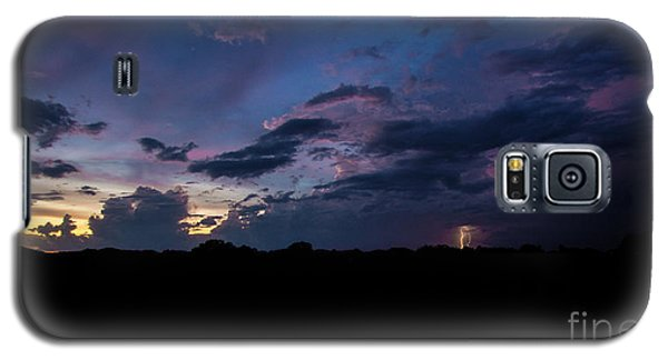 Galaxy S5 Case featuring the photograph Lightning Sunset by Brian Jones