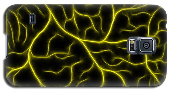 Galaxy S5 Case featuring the photograph Lightning - Yellow by Shane Bechler