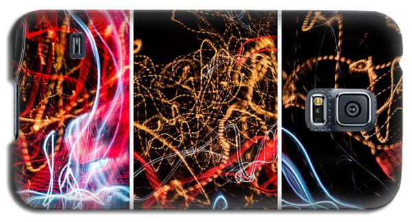 Lightpainting Triptych Wall Art Print Photograph 5 Galaxy S5 Case by John Williams