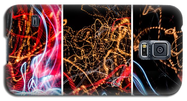 Lightpainting Triptych Wall Art Print Photograph 5 Galaxy S5 Case
