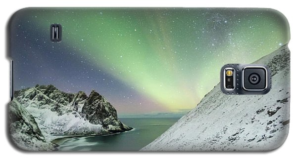 Lights Above Kvalvika Galaxy S5 Case