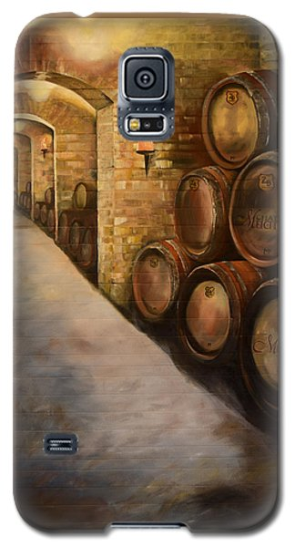 Lights In The Wine Cellar - Chateau Meichtry Vineyard Galaxy S5 Case