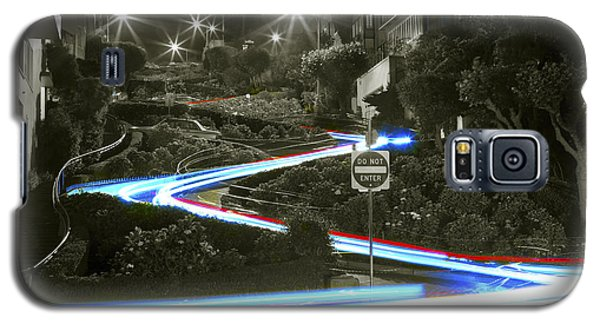 Lights On Lombard Black And White Galaxy S5 Case