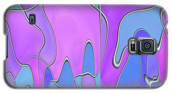 Galaxy S5 Case featuring the digital art Lignes En Folie - 03a by Variance Collections