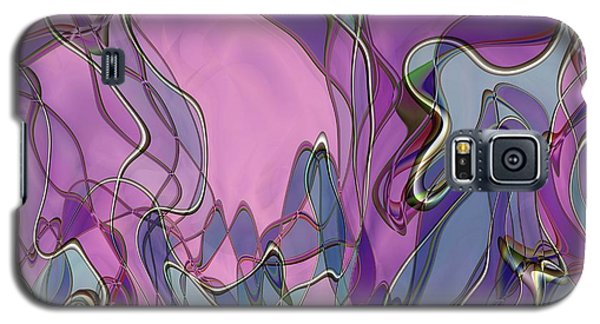 Galaxy S5 Case featuring the digital art Lignes En Folie - 13a by Variance Collections