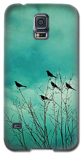 Galaxy S5 Case featuring the photograph Like Birds On Trees by Trish Mistric