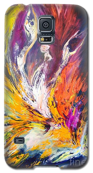 Galaxy S5 Case featuring the painting Like Fire In The Wind by Marat Essex