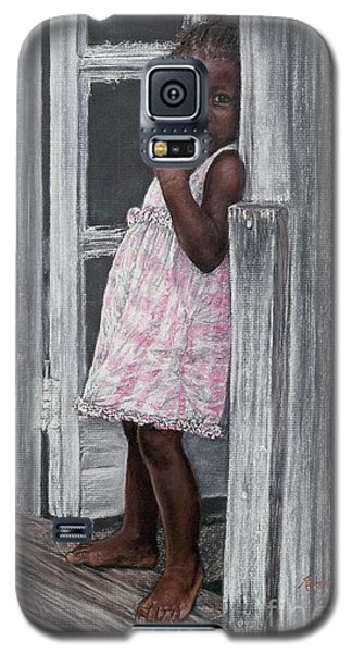 Lil' Girl In Pink Galaxy S5 Case