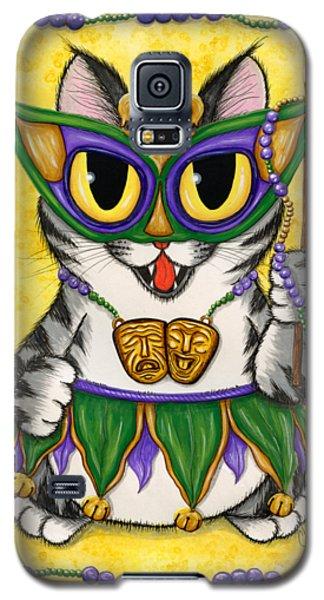 Lil Mardi Gras Cat Galaxy S5 Case