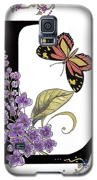 Lilac And Large Tiger Butterfly Galaxy S5 Case