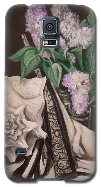 Galaxy S5 Case featuring the painting Lilac And Lingerie by Laura Aceto