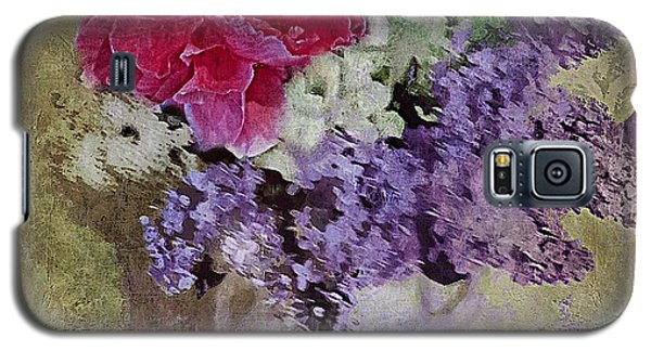Galaxy S5 Case featuring the digital art Lilac Bouquet by Alexis Rotella