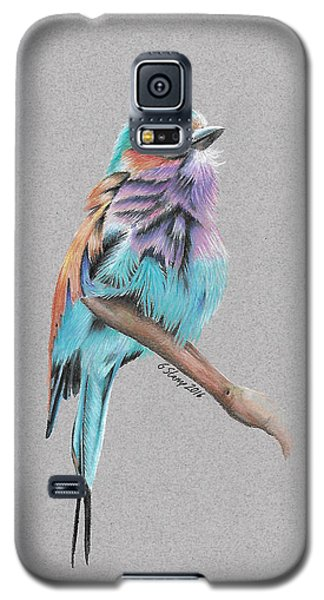 Lilac Breasted Roller Galaxy S5 Case by Gary Stamp