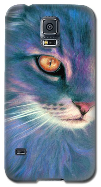 Galaxy S5 Case featuring the painting Lilac Cat by Ragen Mendenhall