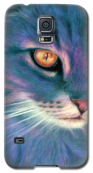 Lilac Cat Galaxy S5 Case
