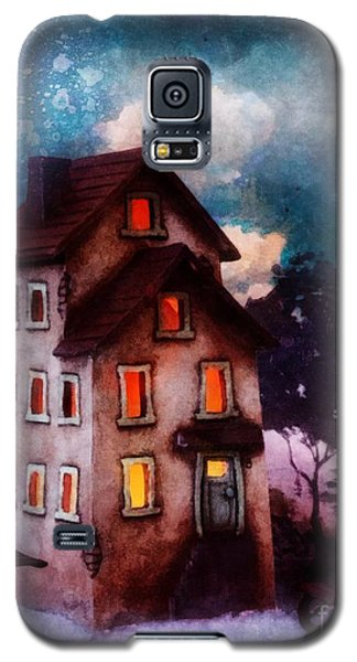 Galaxy S5 Case featuring the painting Lilac Hill by Mo T