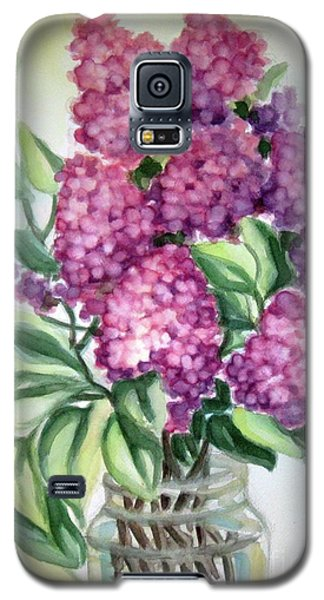 Galaxy S5 Case featuring the painting Lilac On The Kitchen Table by Inese Poga