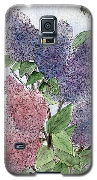 Lilacs And Bees Galaxy S5 Case