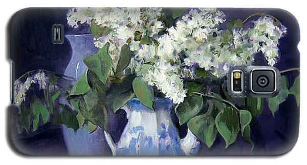 Lilacs And Blue Galaxy S5 Case