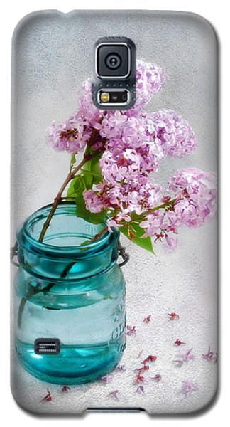Lilacs In A Glass Jar Still Life Galaxy S5 Case