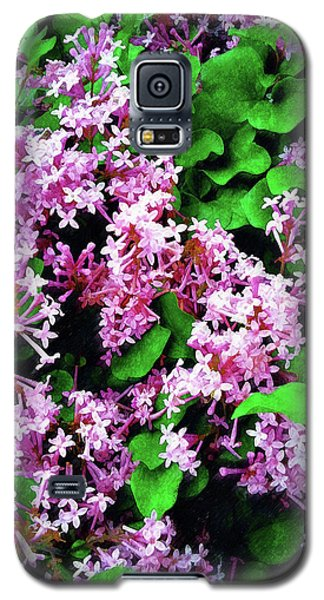 Galaxy S5 Case featuring the painting Lilacs In May by Sandy MacGowan