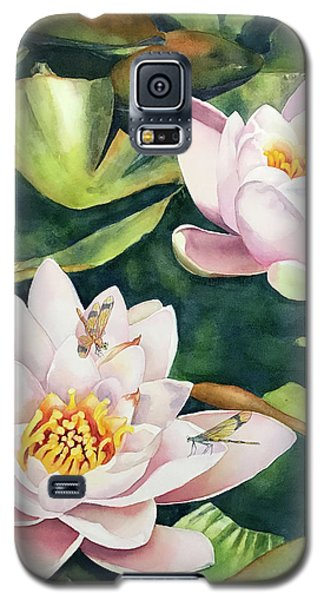 Lilies And Dragonflies Galaxy S5 Case