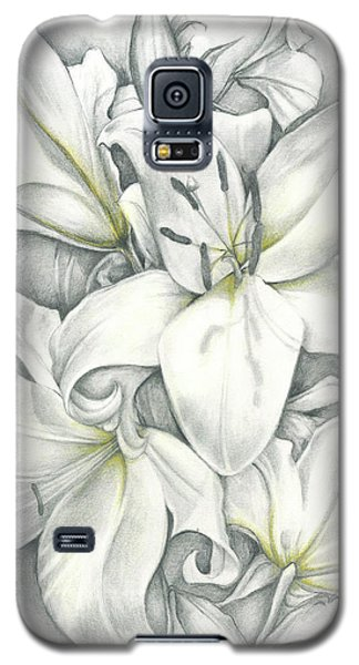 Lilies Pencil Galaxy S5 Case
