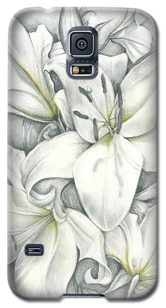 Lilies Pencil Galaxy S5 Case