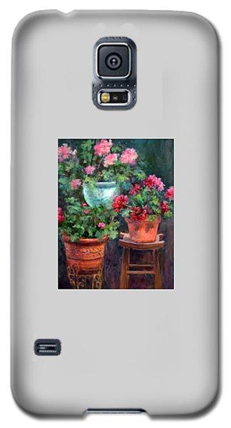 Lil's Geraniums Galaxy S5 Case